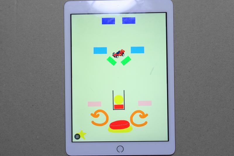 KIZUKIプログラミング講師が制作したSpringin'のゲームのステージ画面